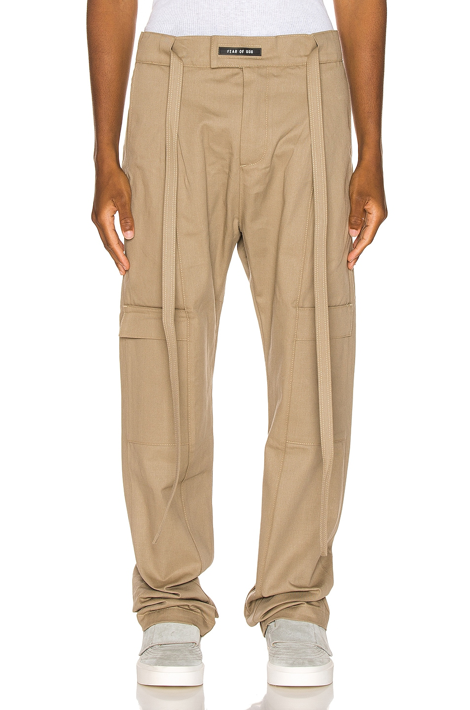 Image 1 of Fear of God Baggy Cargo Trouser in Khaki
