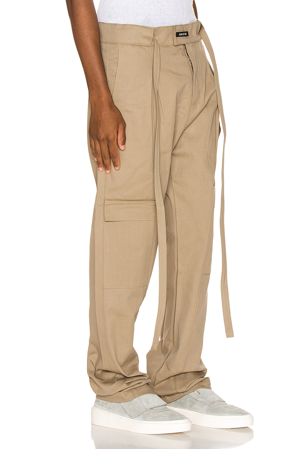Image 2 of Fear of God Baggy Cargo Trouser in Khaki