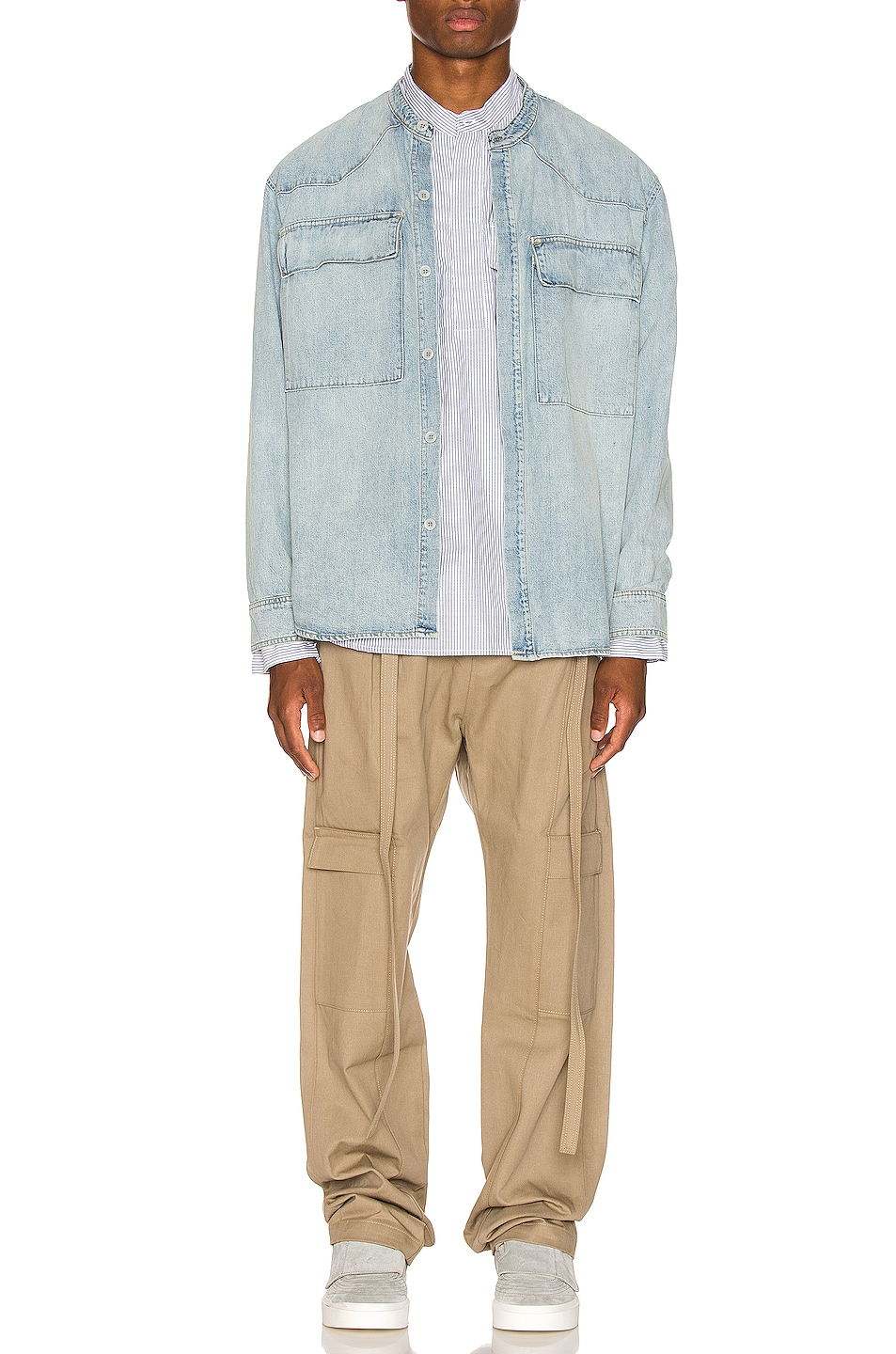Image 4 of Fear of God Baggy Cargo Trouser in Khaki