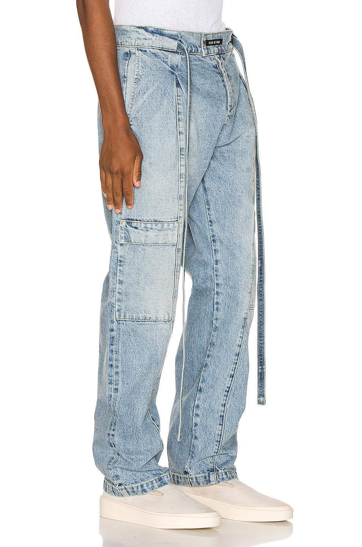 Image 2 of Fear of God Denim Baggy Cargo Trouser in Vintage Indigo