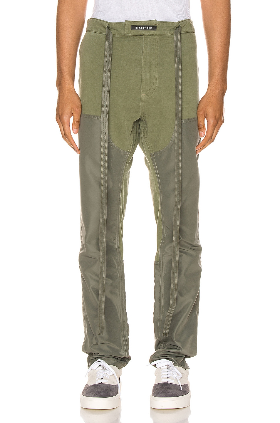 Image 1 of Fear of God Nylon Canvas Double Front Work Pant in Army Green