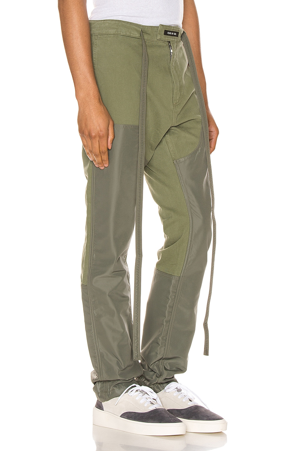 Image 2 of Fear of God Nylon Canvas Double Front Work Pant in Army Green