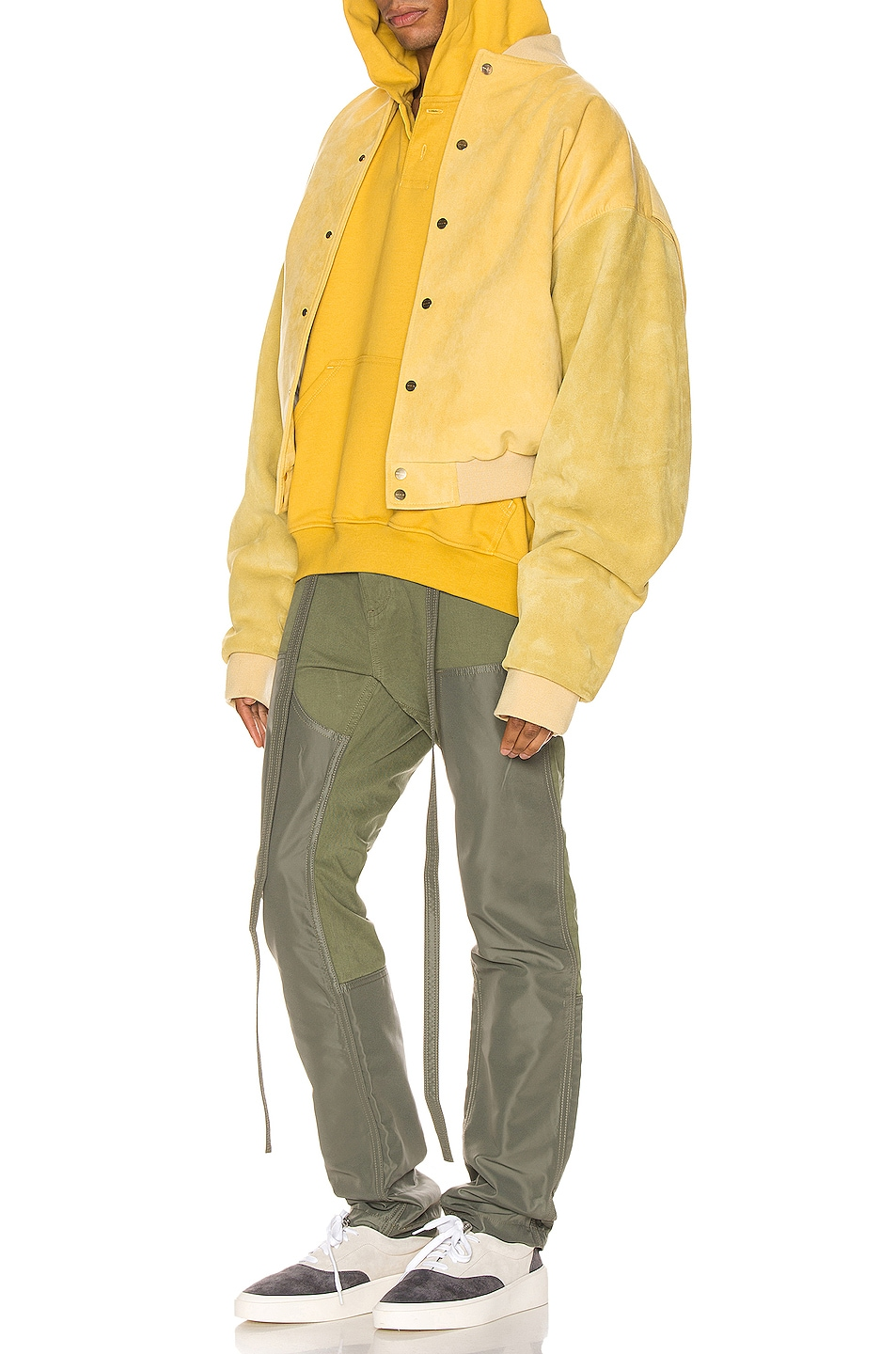 Image 4 of Fear of God Nylon Canvas Double Front Work Pant in Army Green