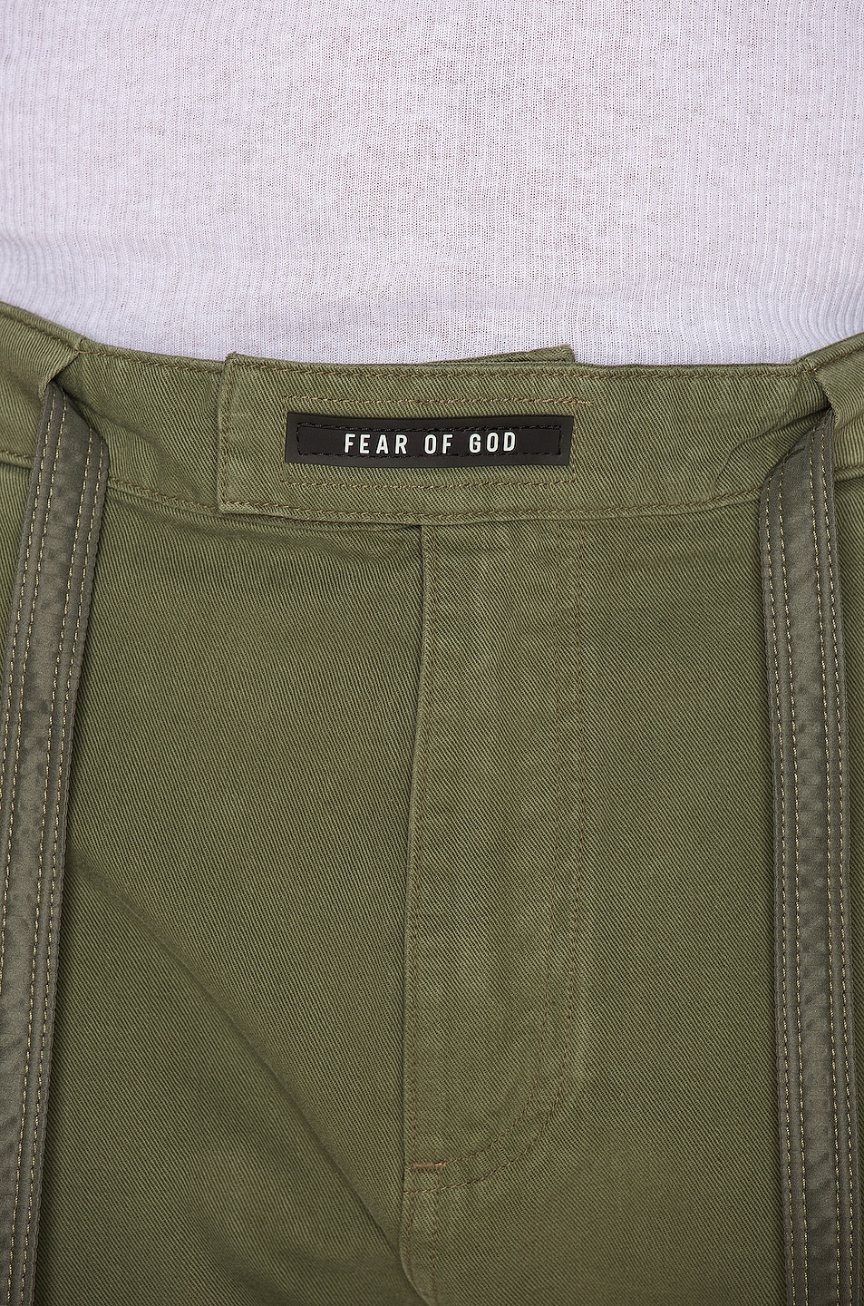 Image 5 of Fear of God Nylon Canvas Double Front Work Pant in Army Green