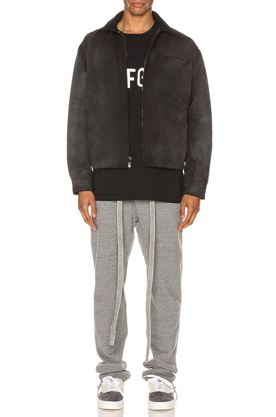 Image 4 of Fear of God Core Sweatpants in Heather Grey
