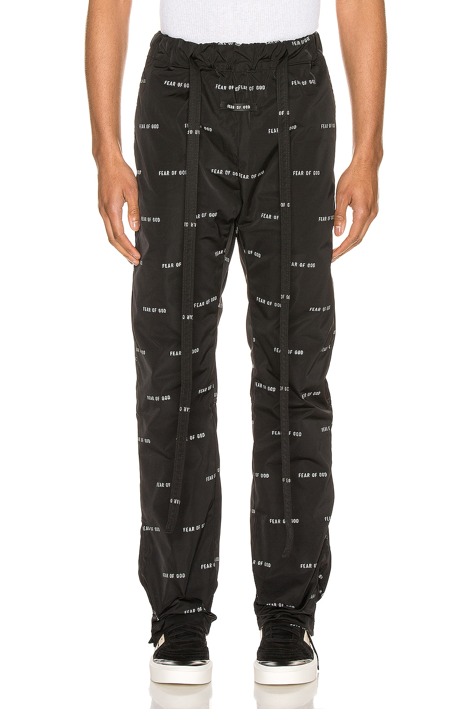 Image 1 of Fear of God All Over Print Baggy Nylon Pant in Black