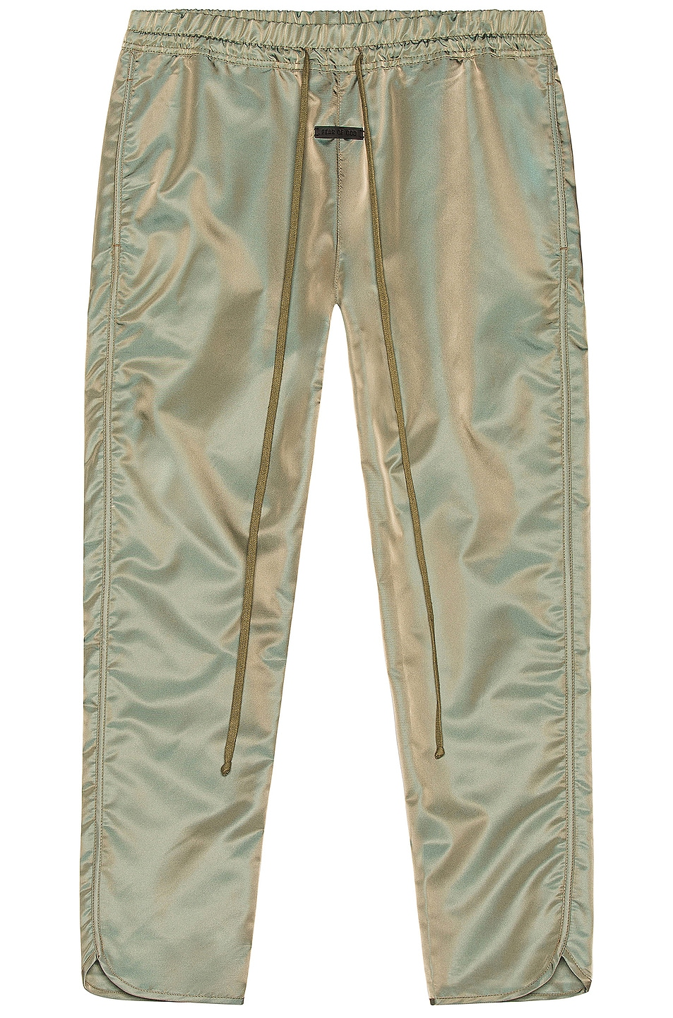 Image 1 of Fear of God Track Pant in Green Iridescent