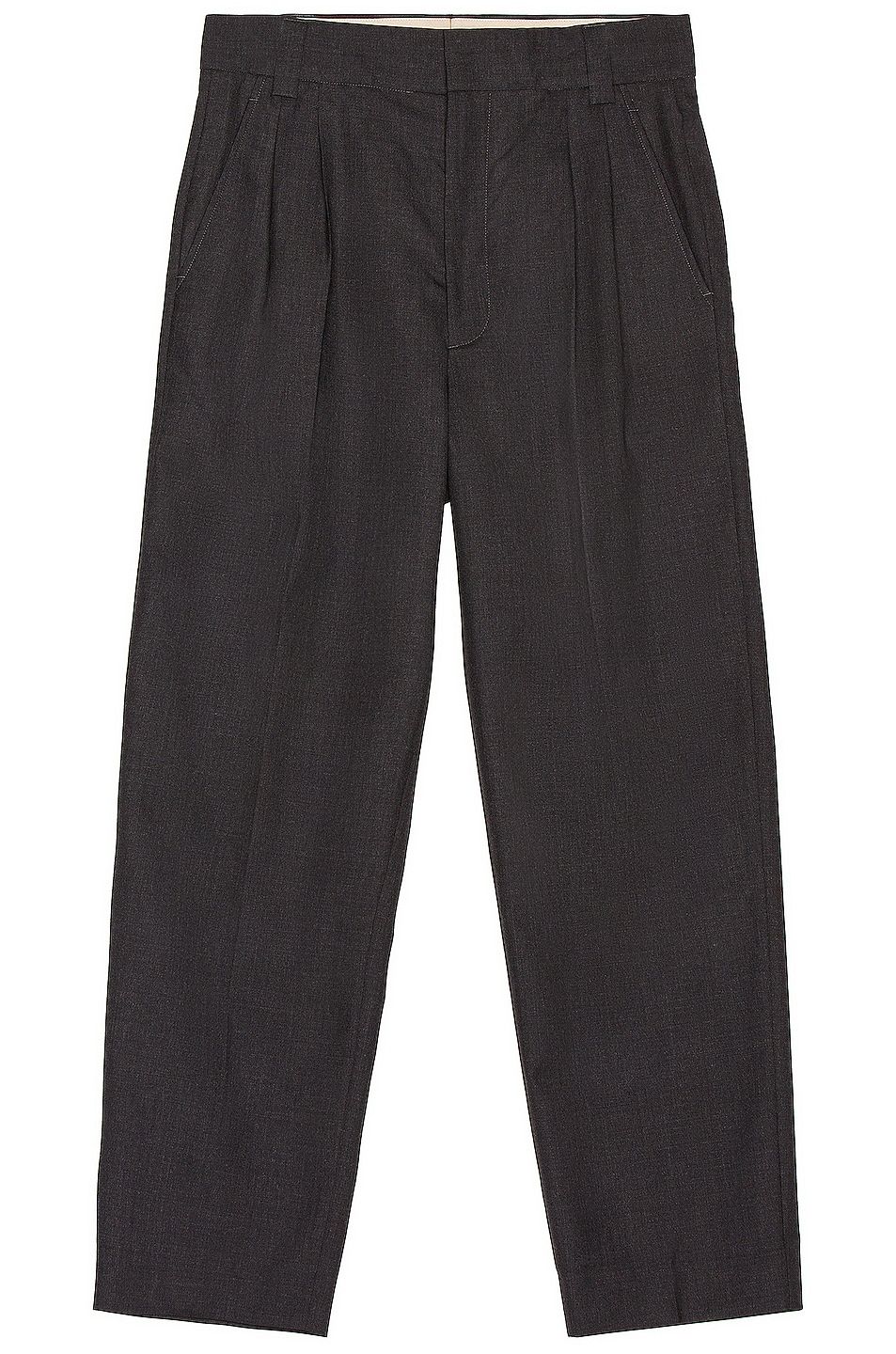 Image 1 of Fear of God Double Pleated Tapered Trouser in Charcoal
