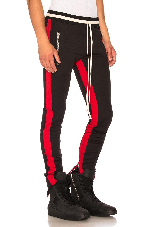 2a1f9d5c5d977c Image 2 of Fear of God Double Knit Double Stripe Track Pant in Black & Red