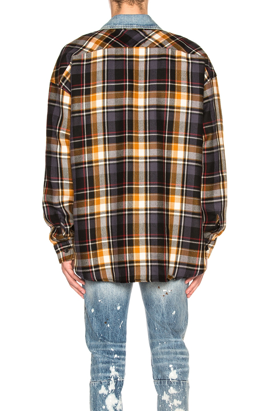 7fa84a7cf1 Image 3 of Fear of God Denim Collared Oversized Flannel in Purple Plaid