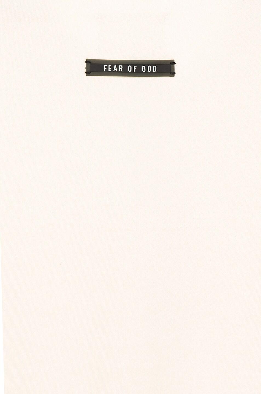 Image 5 of Fear of God Long Sleeve Henley in Cream & Vintage Black