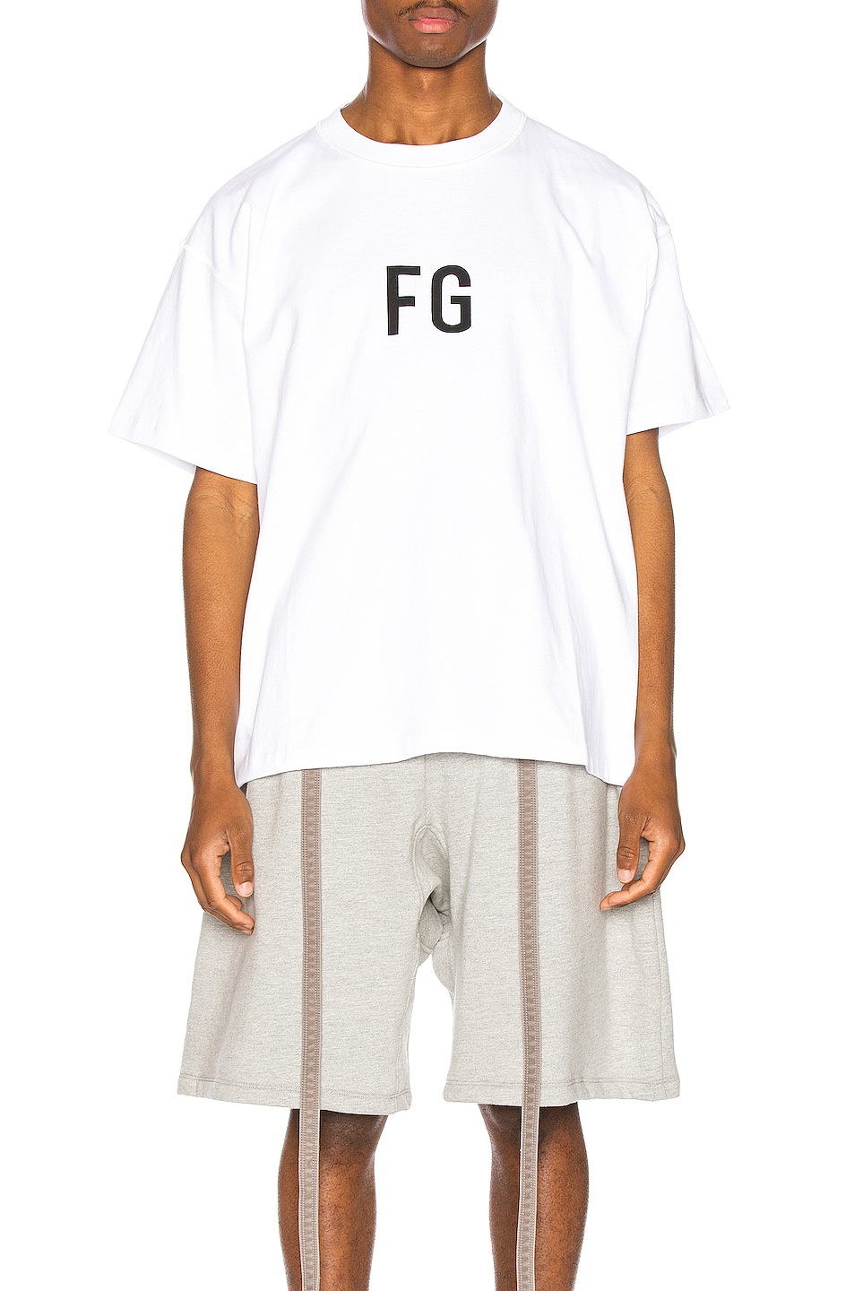 Image 1 of Fear of God Short Sleeve FG Tee in White