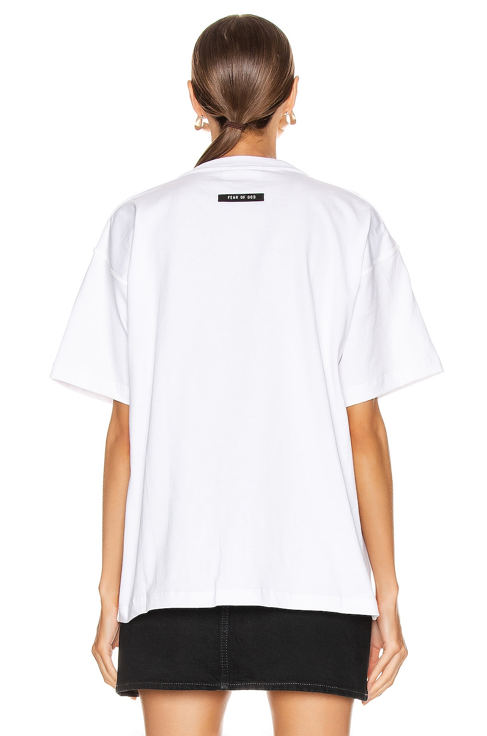Image 3 of Fear of God Short Sleeve FG Tee in White
