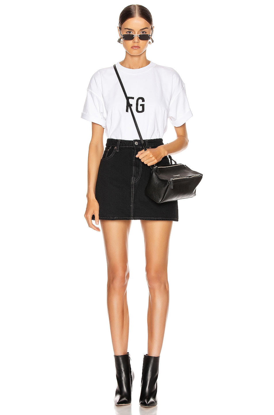 Image 4 of Fear of God Short Sleeve FG Tee in White