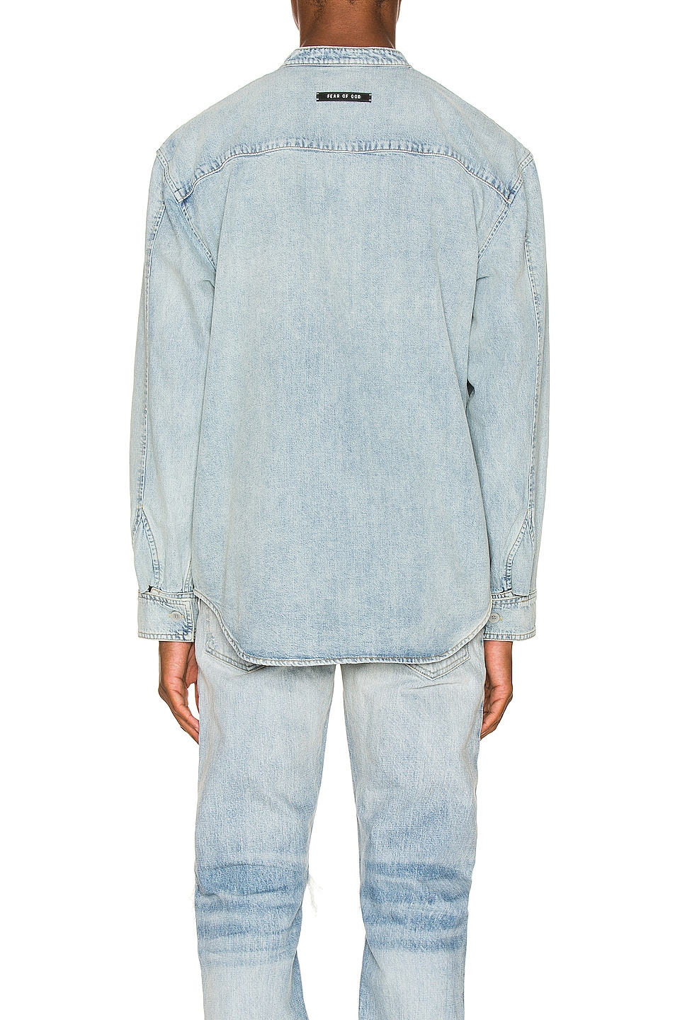 Image 3 of Fear of God Vintage Denim Shirt in Vintage Indigo