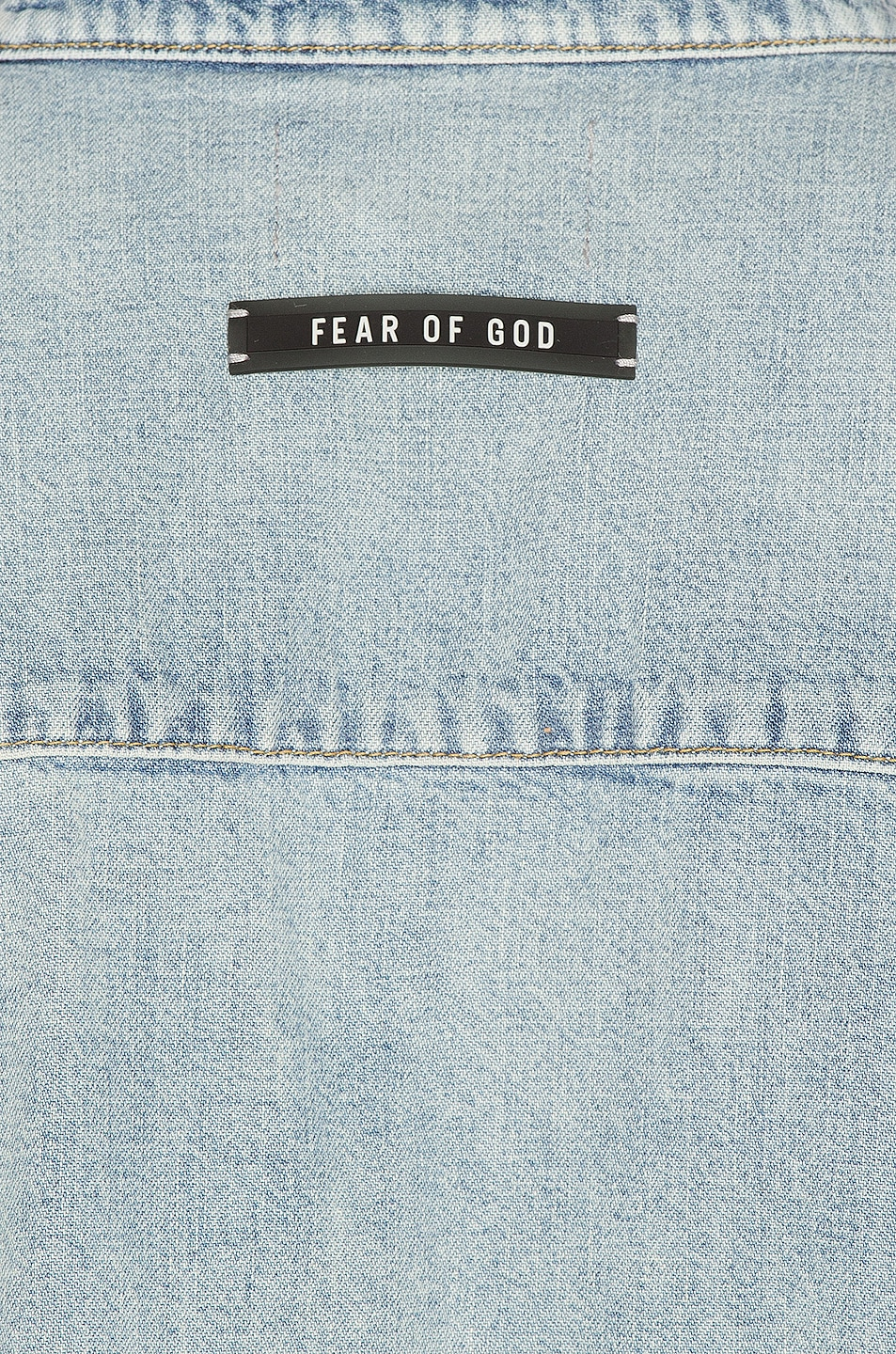Image 5 of Fear of God Vintage Denim Shirt in Vintage Indigo