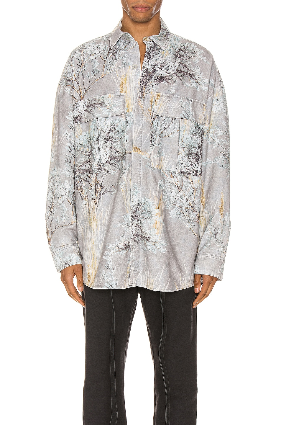 Image 1 of Fear of God Long Sleeve Button Up in Prairie Ghost Camo