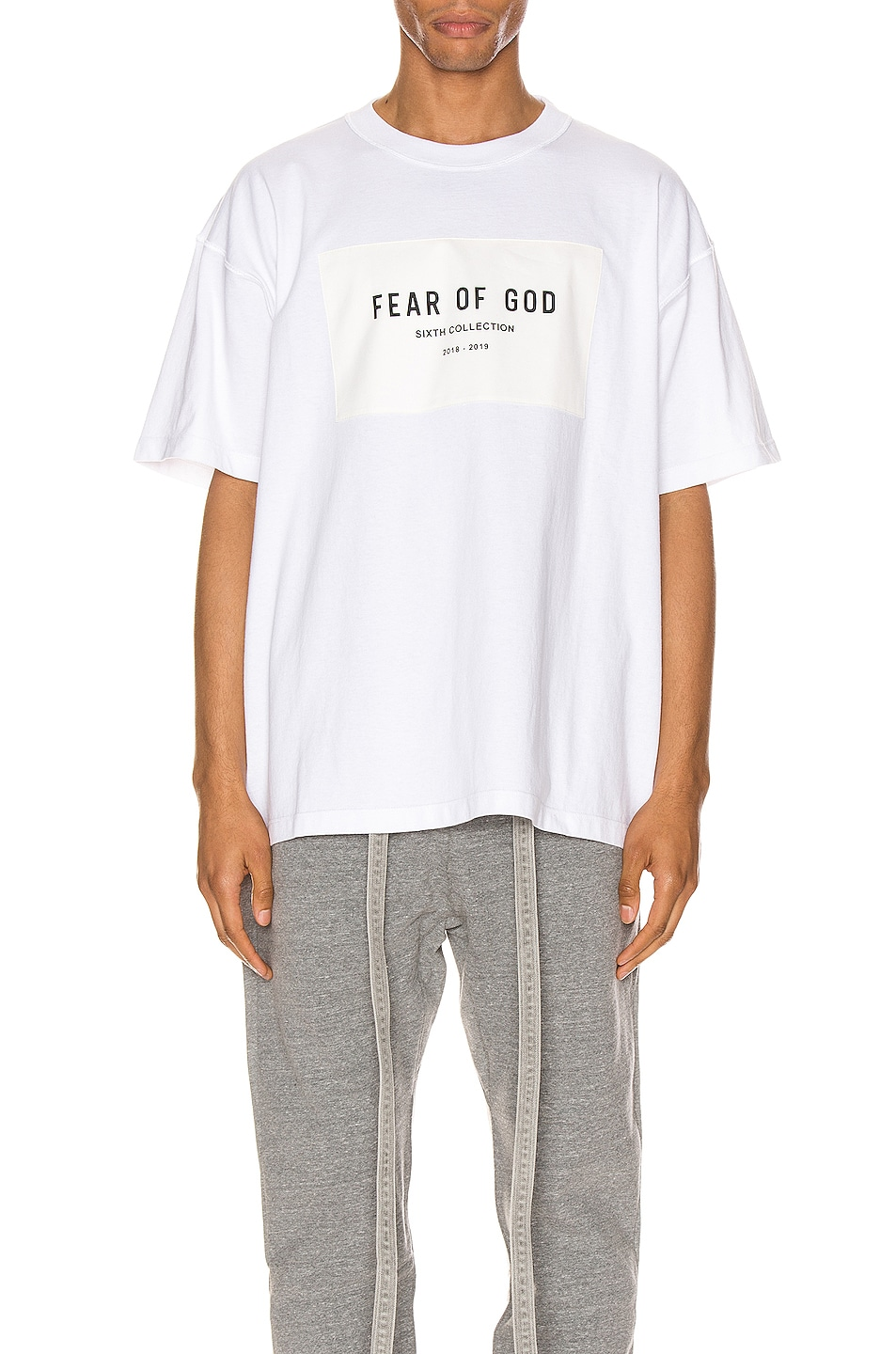 Image 1 of Fear of God 6th Collection Tee in White