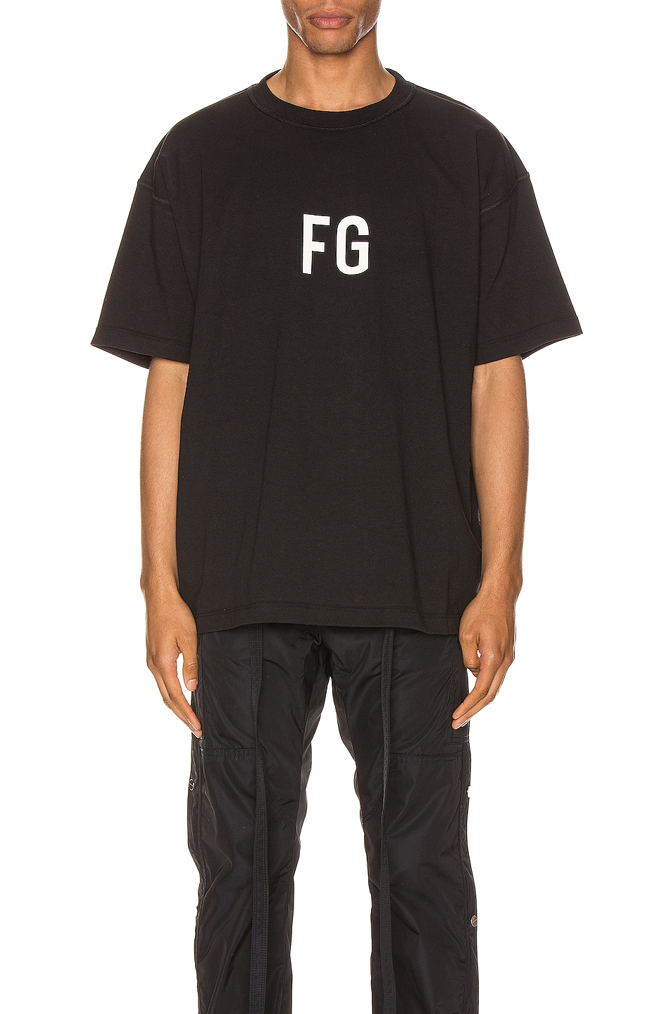 Image 1 of Fear of God Short Sleeve FG Tee in Vintage Black