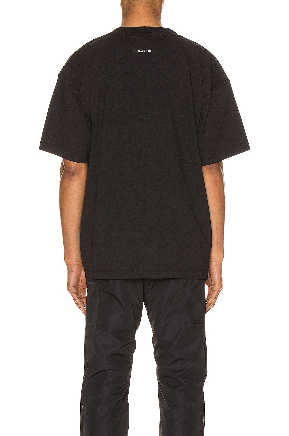 Image 3 of Fear of God Short Sleeve FG Tee in Vintage Black