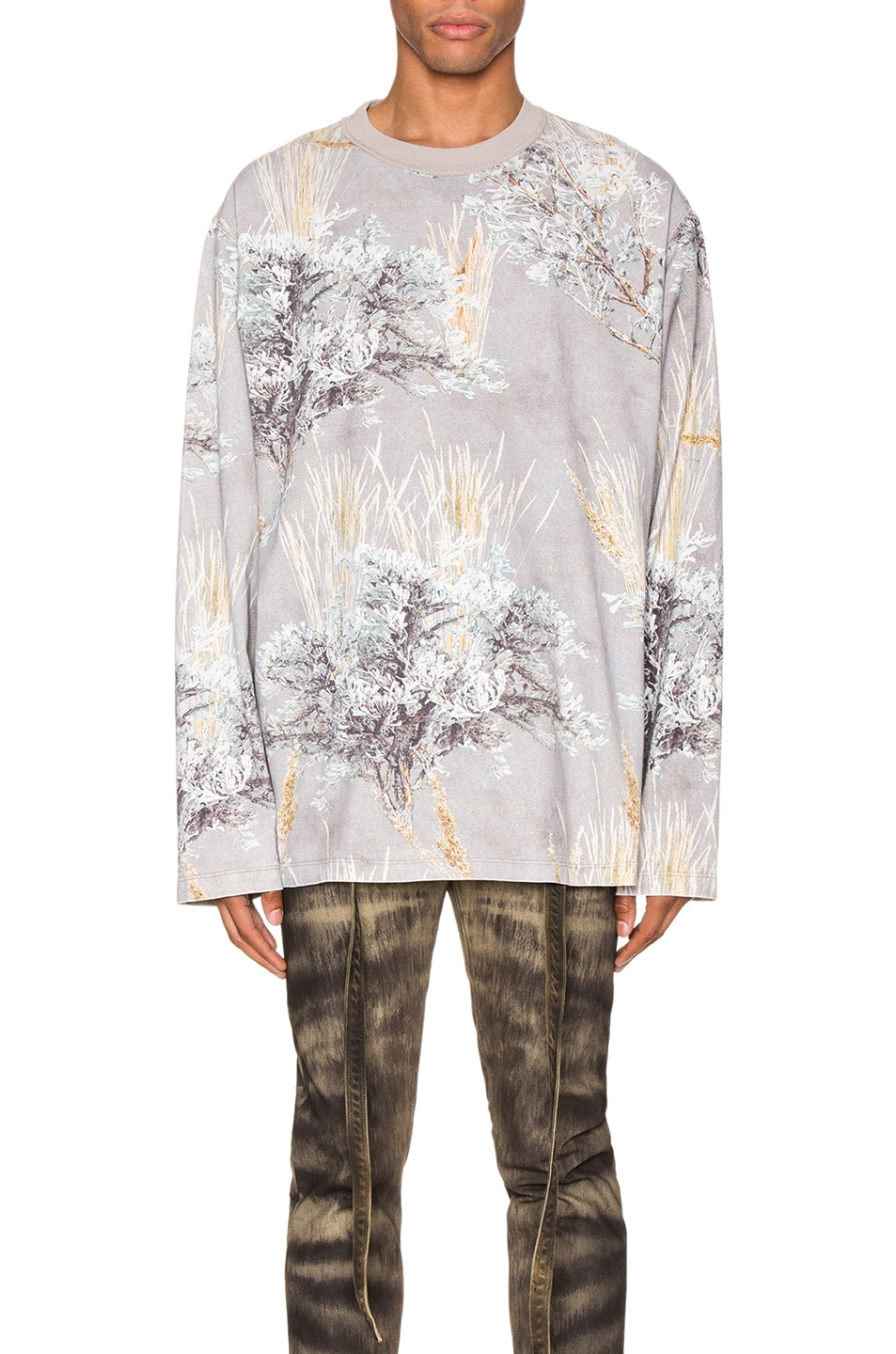 Image 1 of Fear of God Printed Long Sleeve Tee in Prarie Ghost Camo
