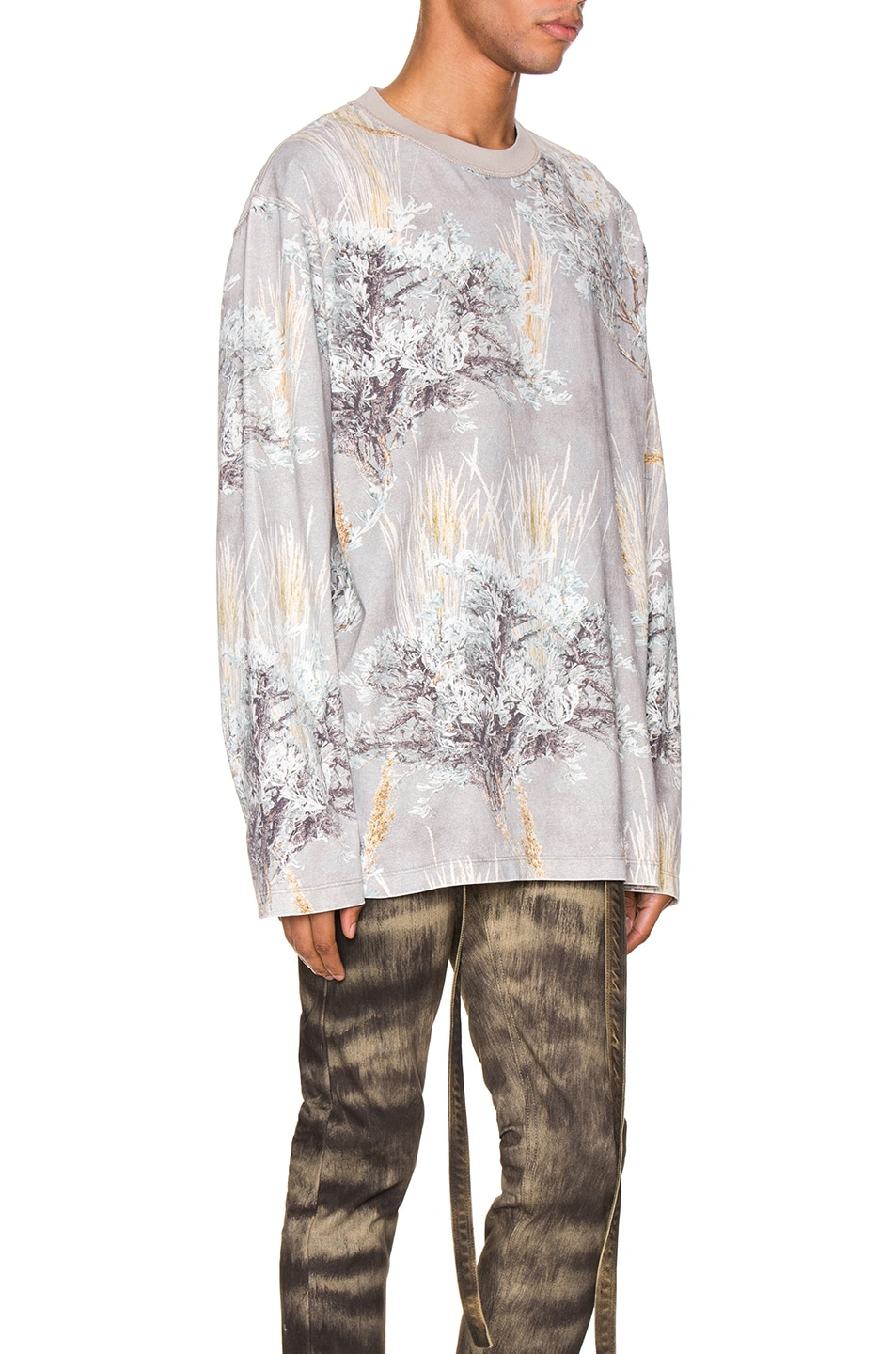 Image 2 of Fear of God Printed Long Sleeve Tee in Prarie Ghost Camo