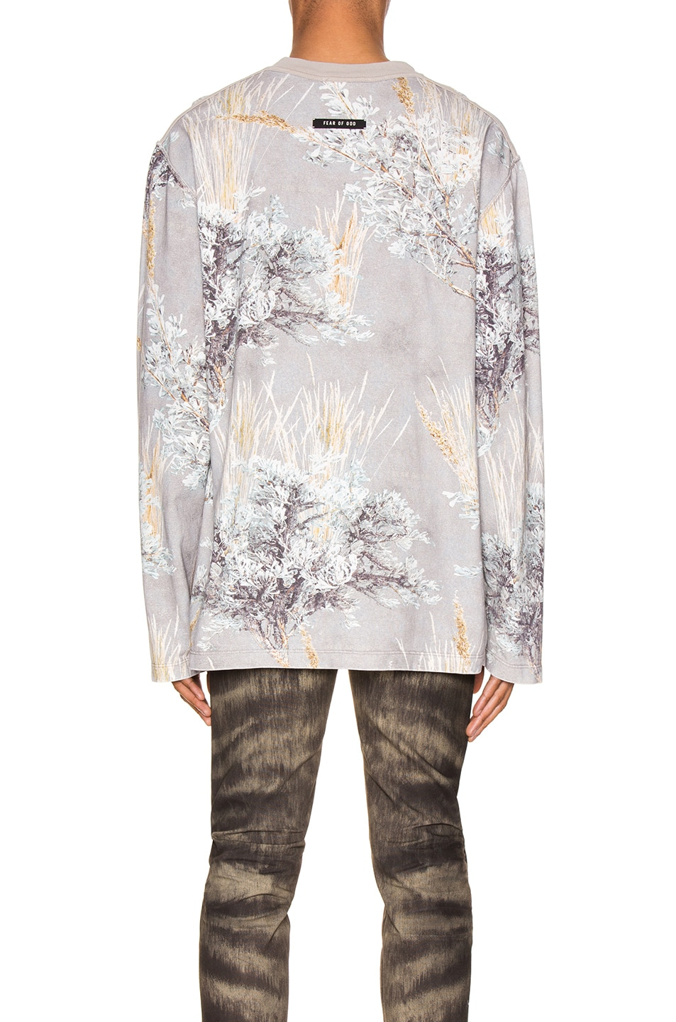 Image 3 of Fear of God Printed Long Sleeve Tee in Prarie Ghost Camo
