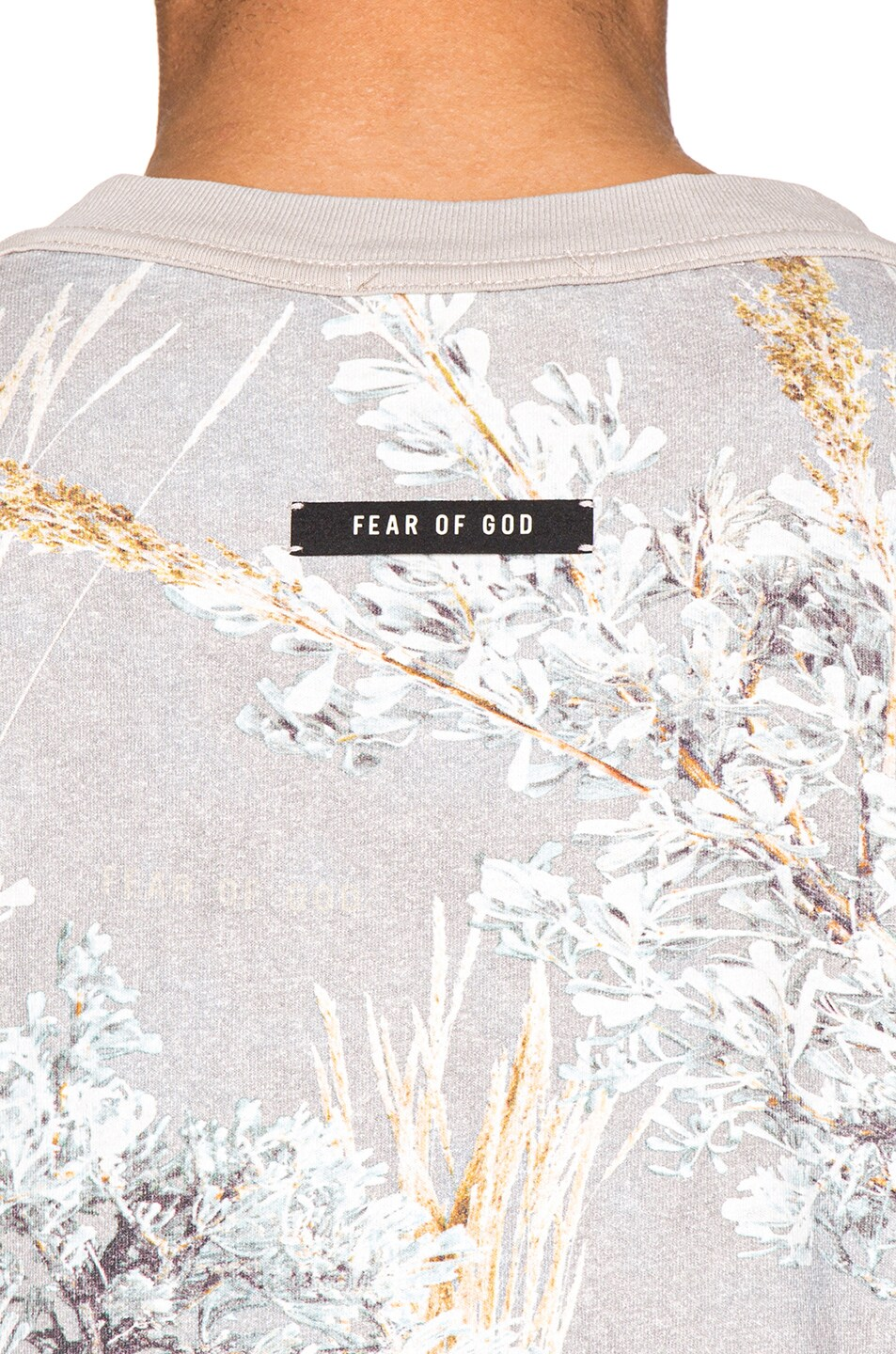Image 5 of Fear of God Printed Long Sleeve Tee in Prarie Ghost Camo