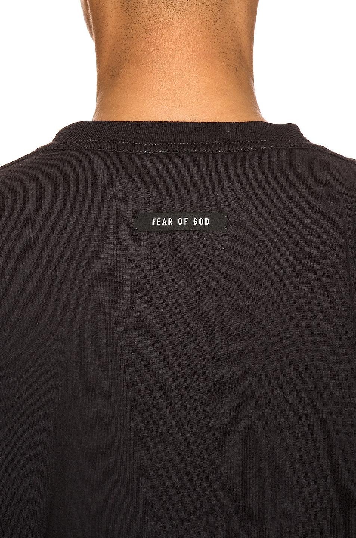 Image 5 of Fear of God Short Sleeve FG 3M Tee in Vintage Black