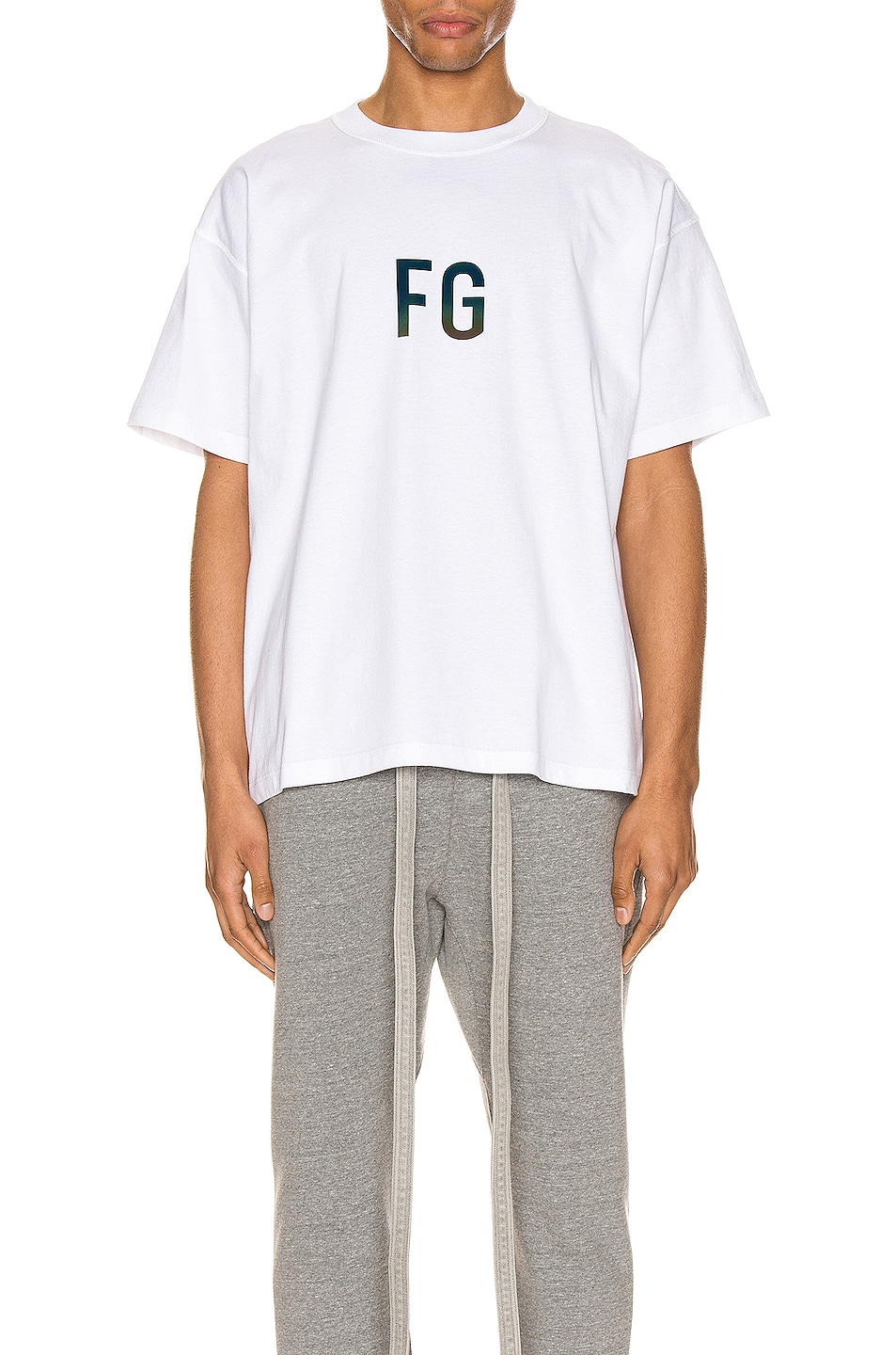 Image 1 of Fear of God Short Sleeve FG 3M Tee in White