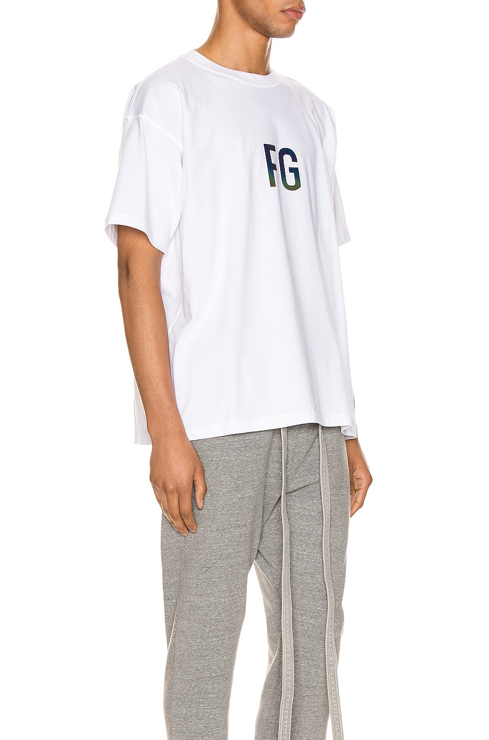 Image 2 of Fear of God Short Sleeve FG 3M Tee in White