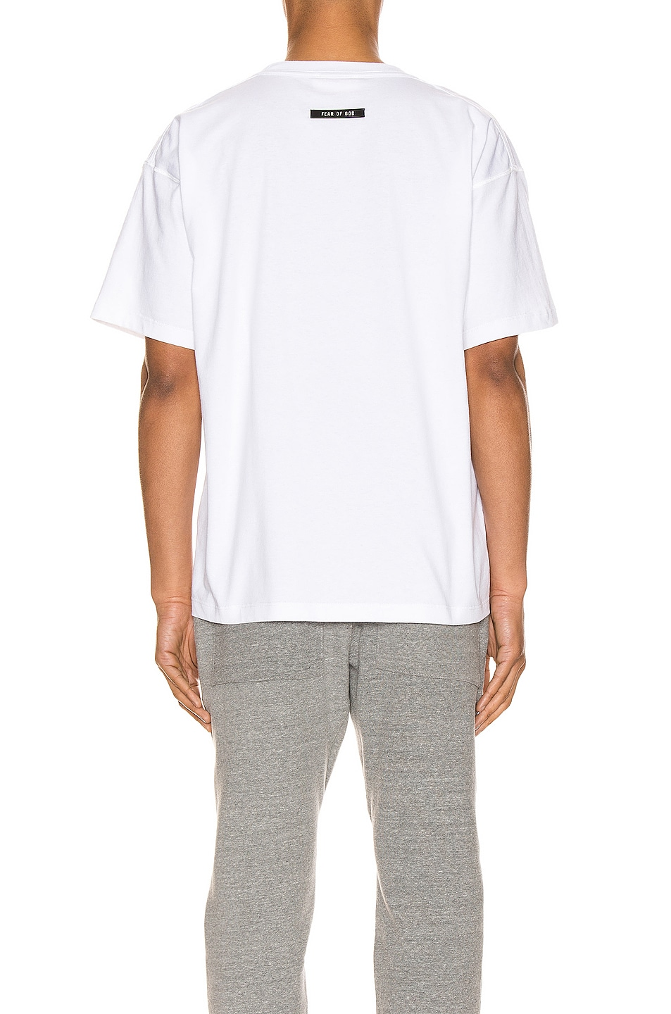 Image 3 of Fear of God Short Sleeve FG 3M Tee in White