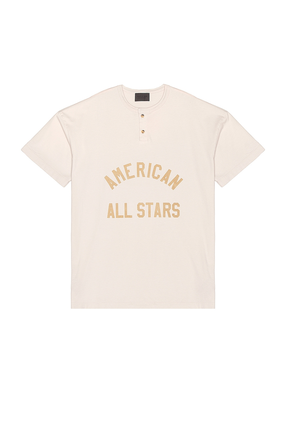 Image 1 of Fear of God All Star Henley Tee in Vintage Concrete White