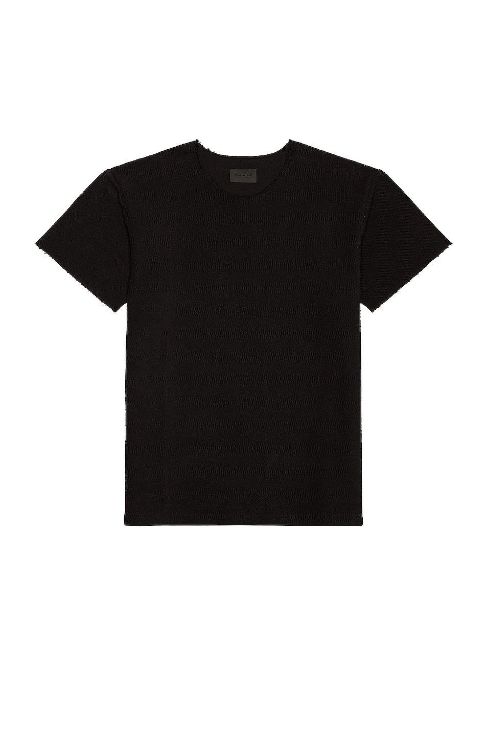 Image 1 of Fear of God Inside Out Terry Tee in Black