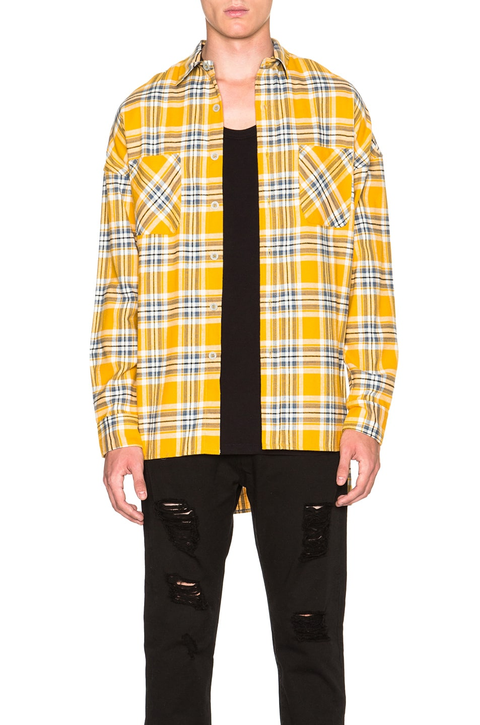 Image 1 of Fear of God Flannel Shirt in Yellow Plaid