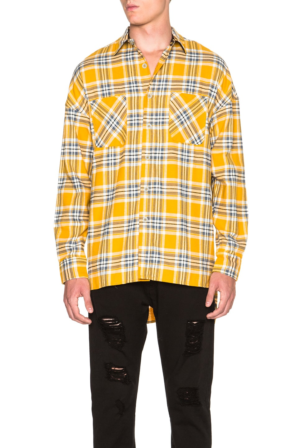 Image 2 of Fear of God Flannel Shirt in Yellow Plaid