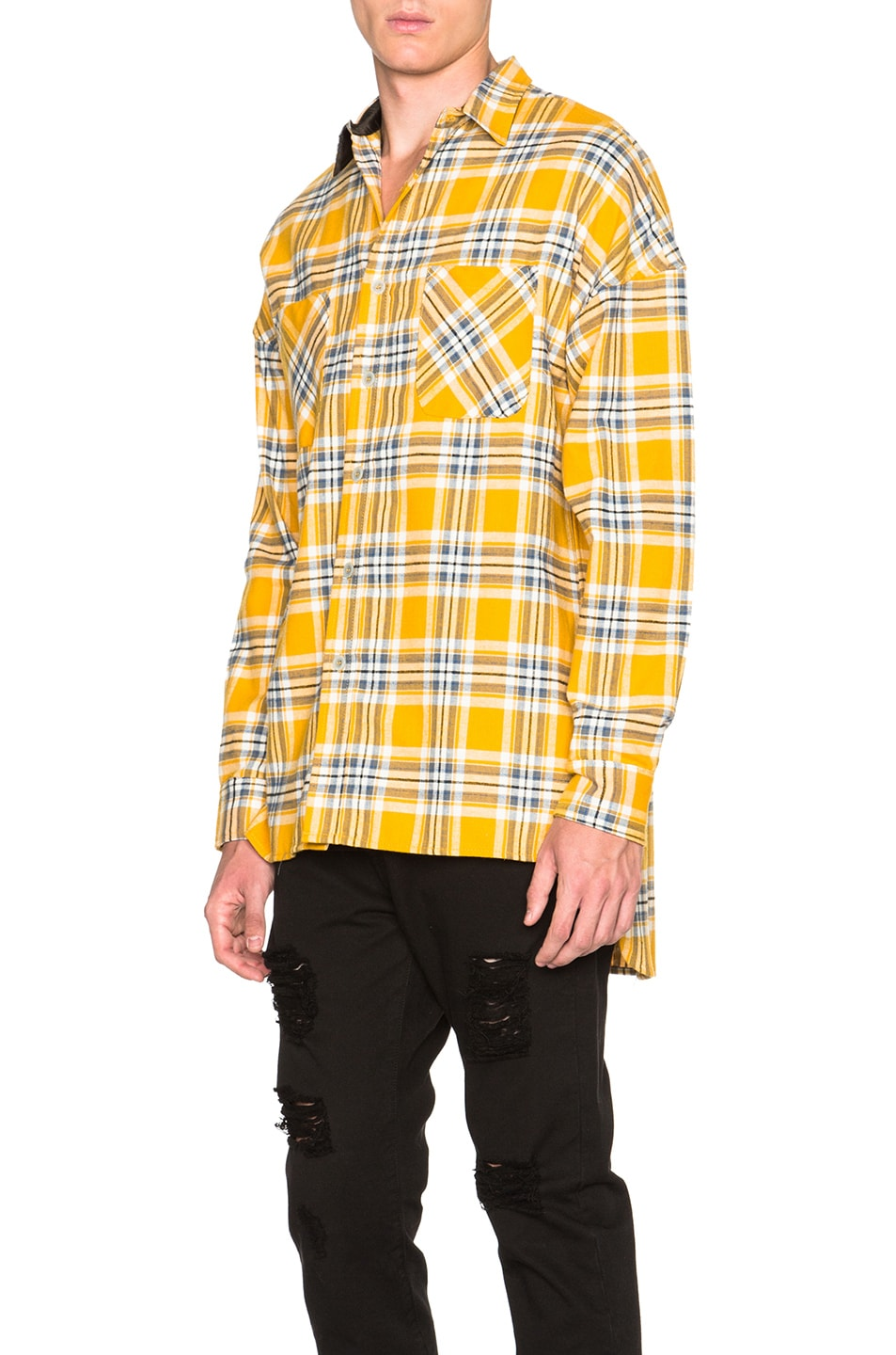 Image 3 of Fear of God Flannel Shirt in Yellow Plaid