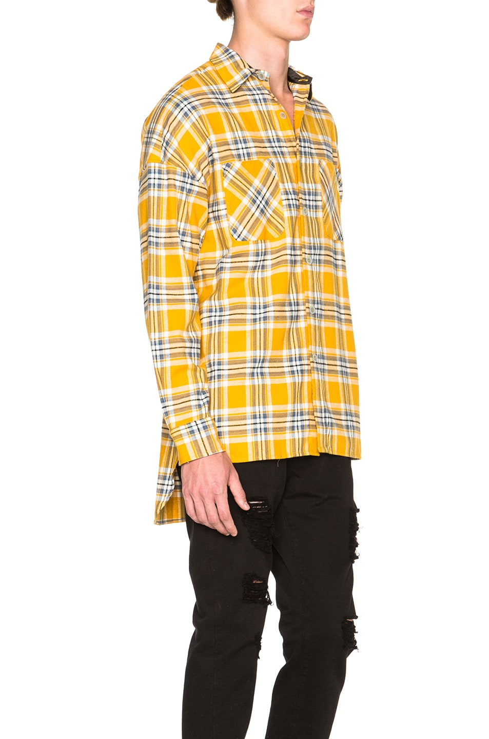 Image 4 of Fear of God Flannel Shirt in Yellow Plaid