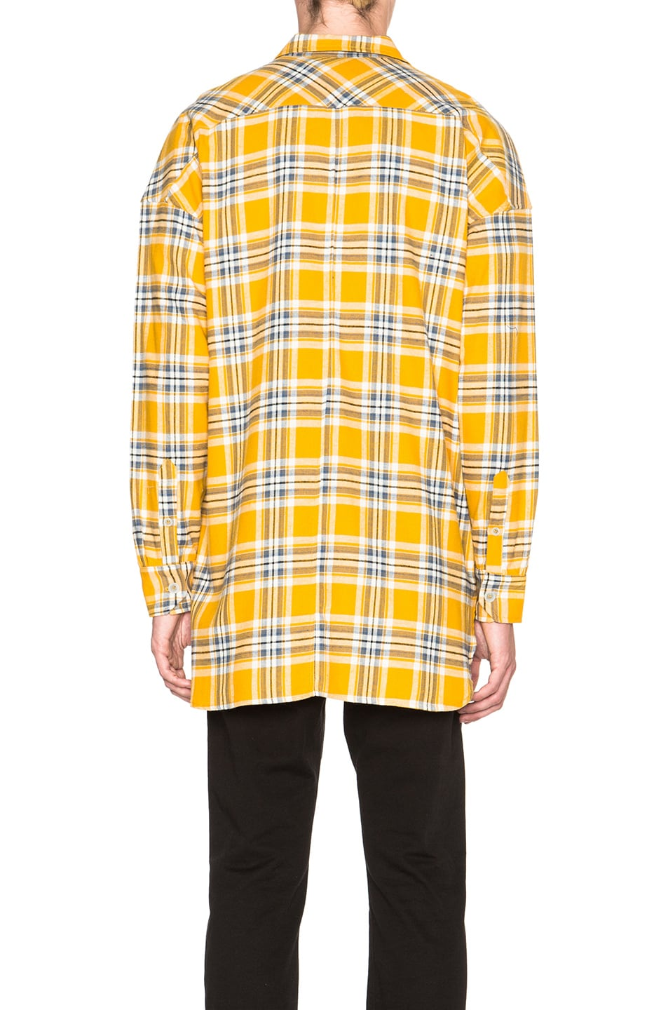 Image 5 of Fear of God Flannel Shirt in Yellow Plaid