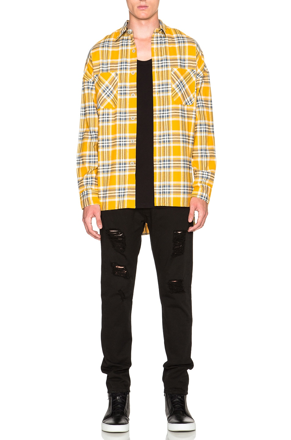 Image 6 of Fear of God Flannel Shirt in Yellow Plaid