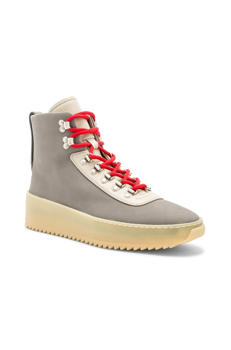 Image 1 of Fear of God Nubuck Leather Hiking Sneakers in Grey