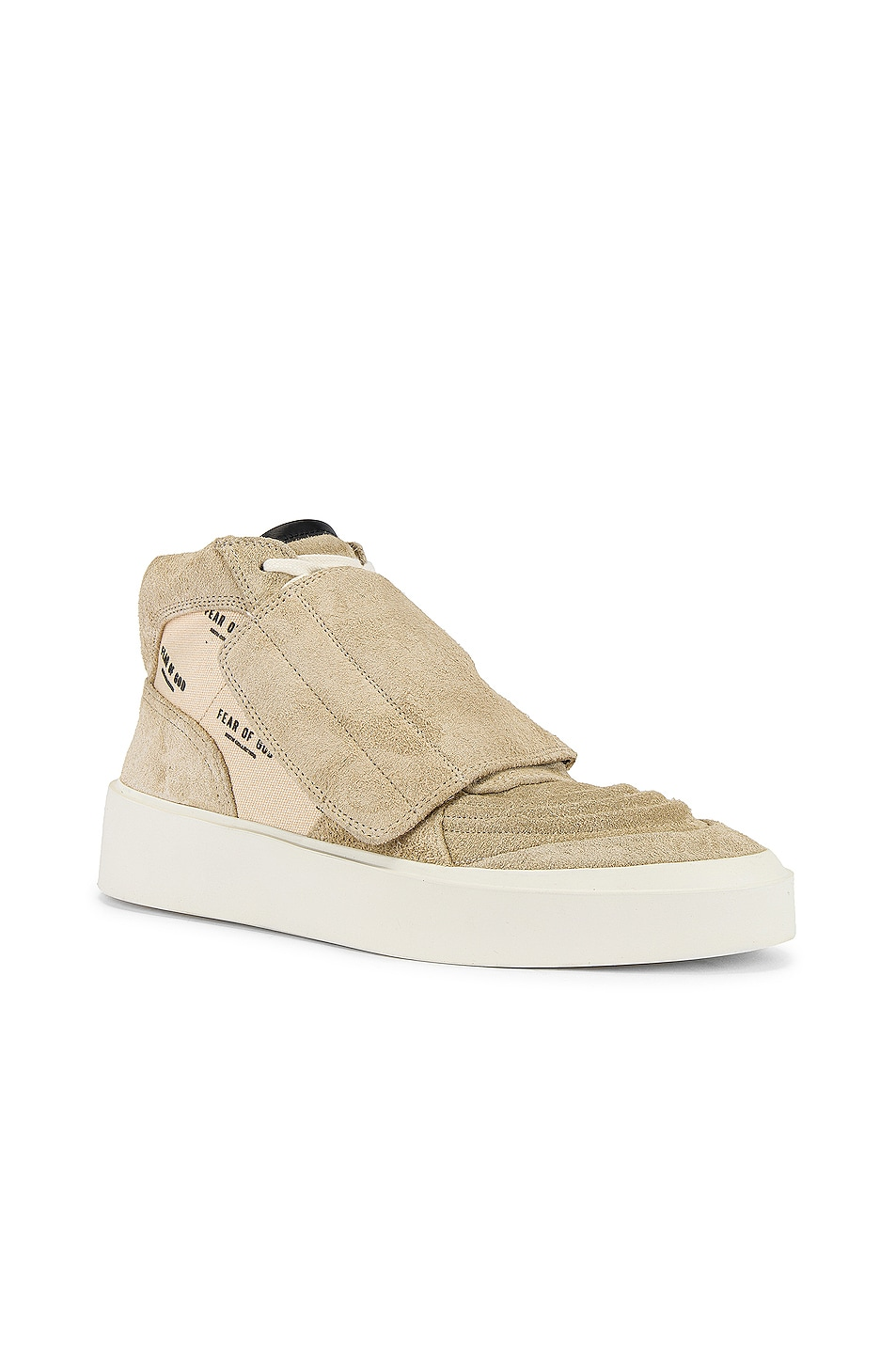 Image 1 of Fear of God Skate Mid Sneaker in Sand & Cream Fear of God Print