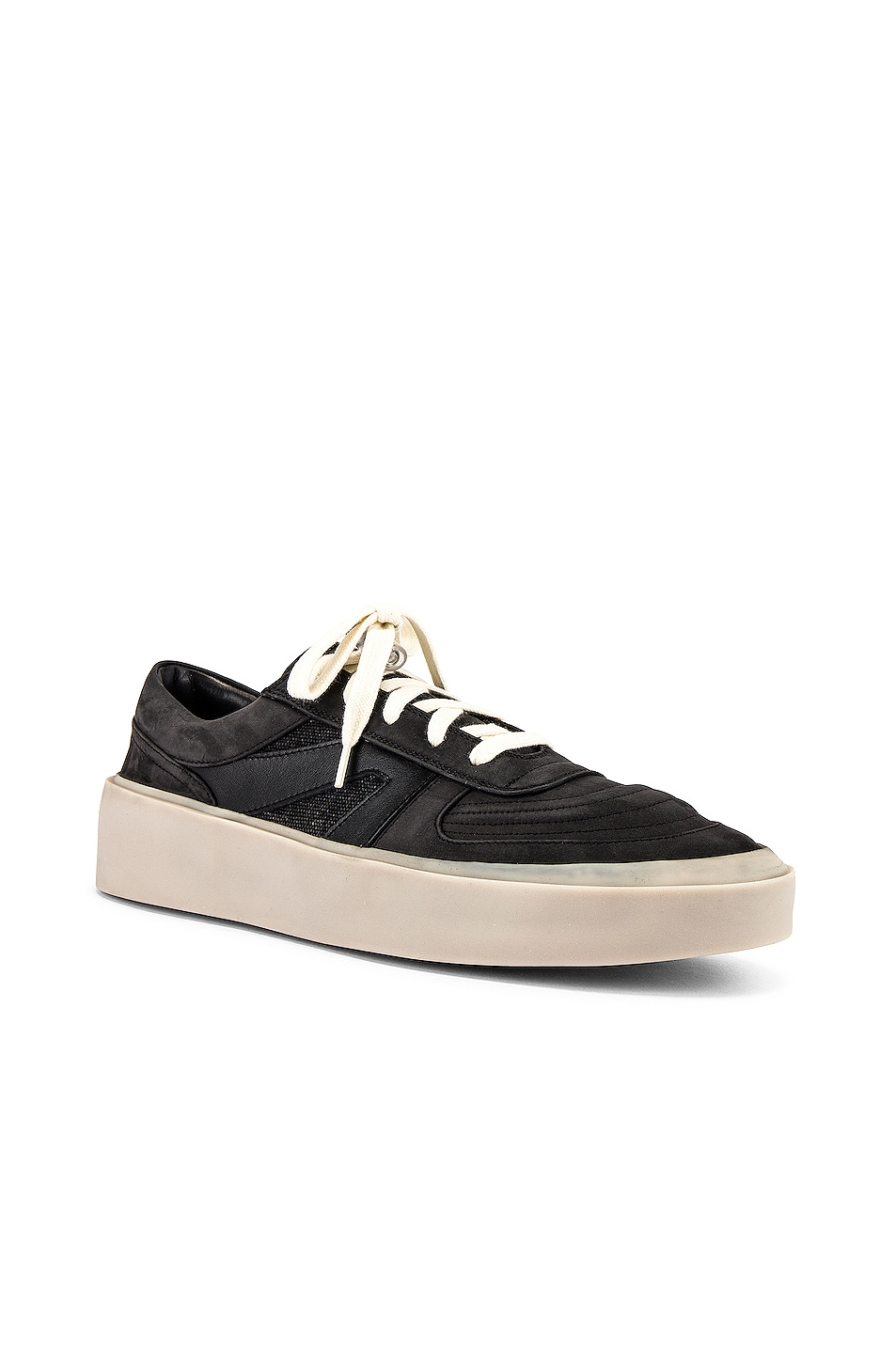 Image 1 of Fear of God Strapless Skate Mid in Black & Grey Gum Sole