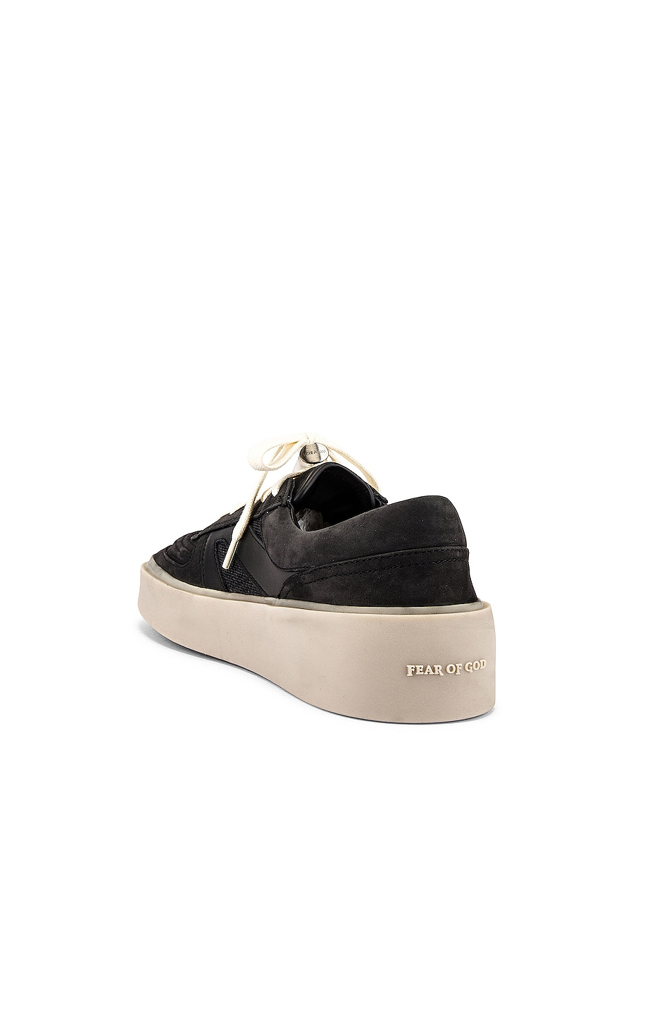 Image 3 of Fear of God Strapless Skate Mid in Black & Grey Gum Sole