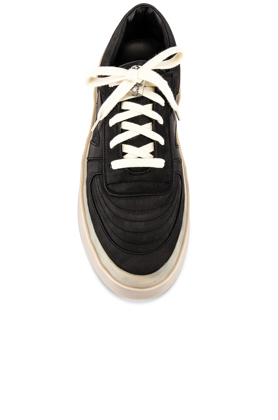Image 4 of Fear of God Strapless Skate Mid in Black & Grey Gum Sole