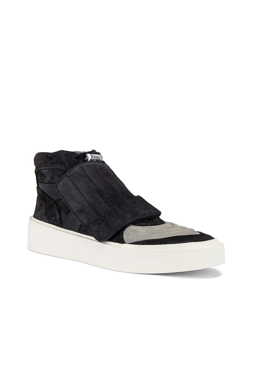Image 1 of Fear of God Skate Mid Sneaker in Black & Grey