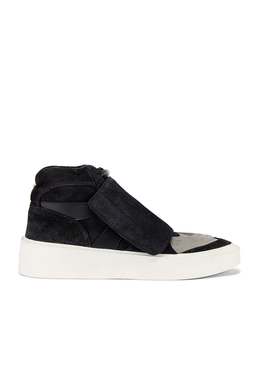 Image 2 of Fear of God Skate Mid Sneaker in Black & Grey