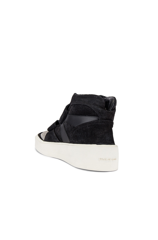 Image 3 of Fear of God Skate Mid Sneaker in Black & Grey