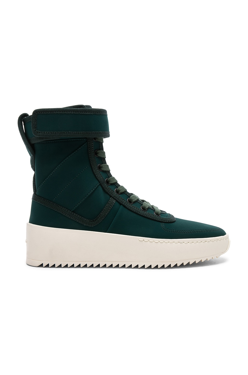 FEAR OF GOD NYLON MILITARY SNEAKERS IN GREEN