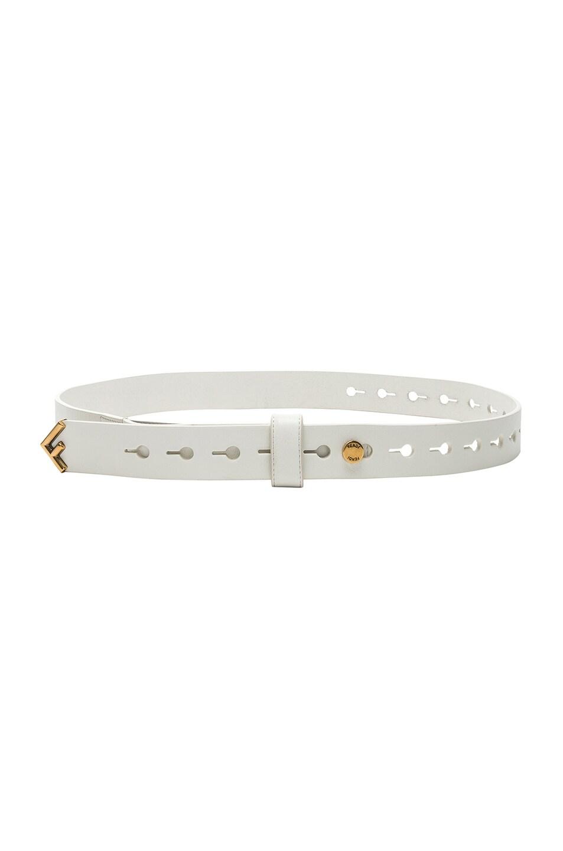Image 1 of Fendi Medium Belt in White